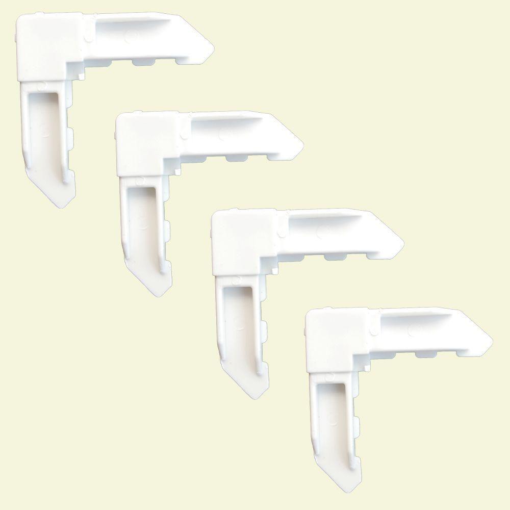 DIY 4 White Screen Frame Locking Corners