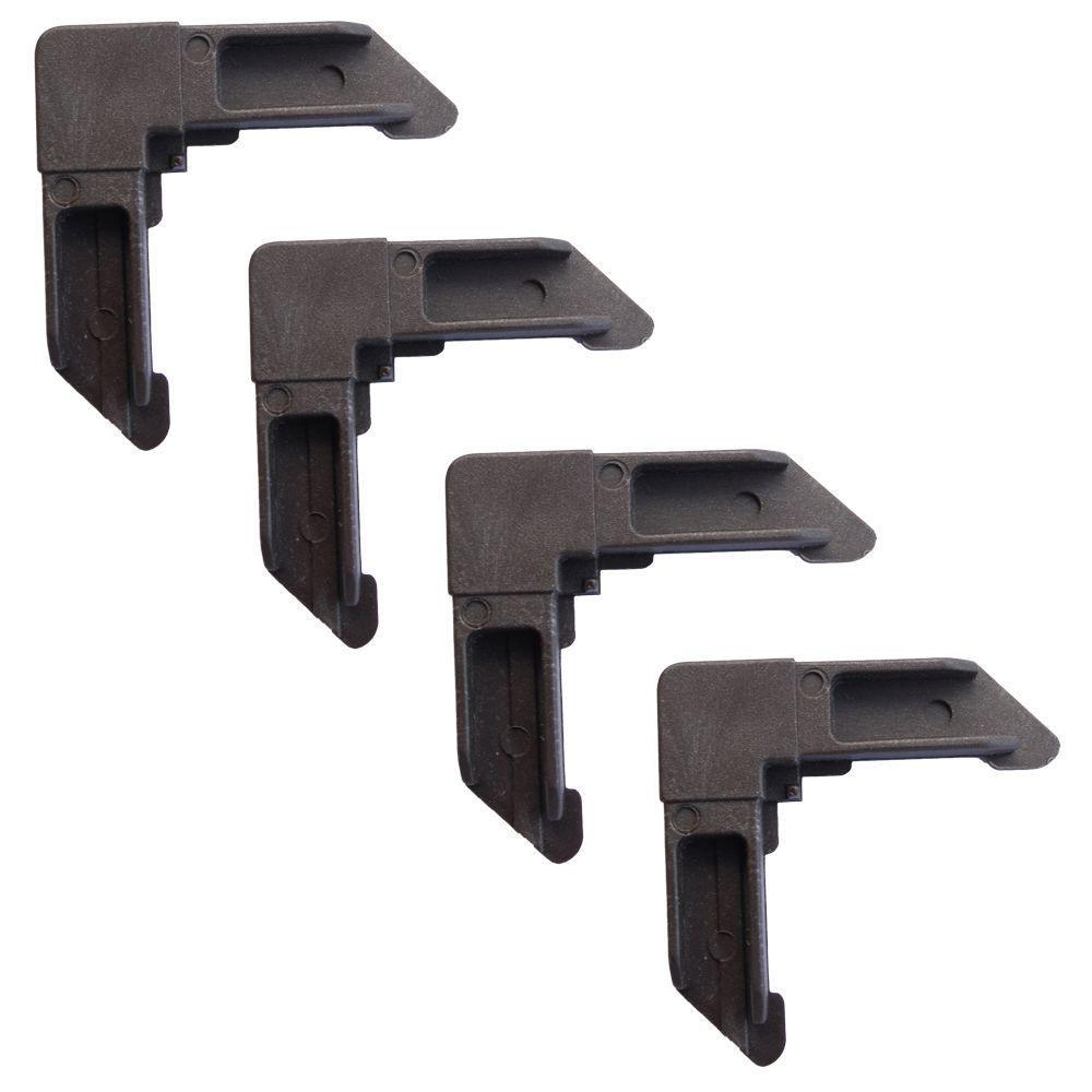 fermant les coins à clef 4 - brun de poly-sac