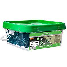 #10 x 3-1/2-inch Square Drive Flat Head Deck Screw UNC in Green - 500pcs