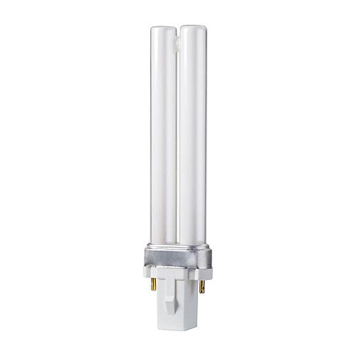 Philips CFL 7W PLS Warm White 2 Pin