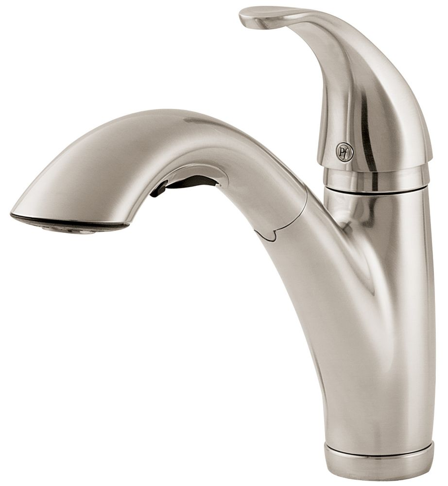 Parisa Lead Free Pull-Out Kitchen Faucet in Stainless Steel
