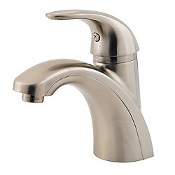 Pfister Parisa Single Hole 1-Handle Mid Arc Bathroom Faucet in Brushed Nickel with Lever Handle