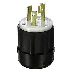 15 Amp Locking Plug - 125Vc 2 Pole 3 Wire