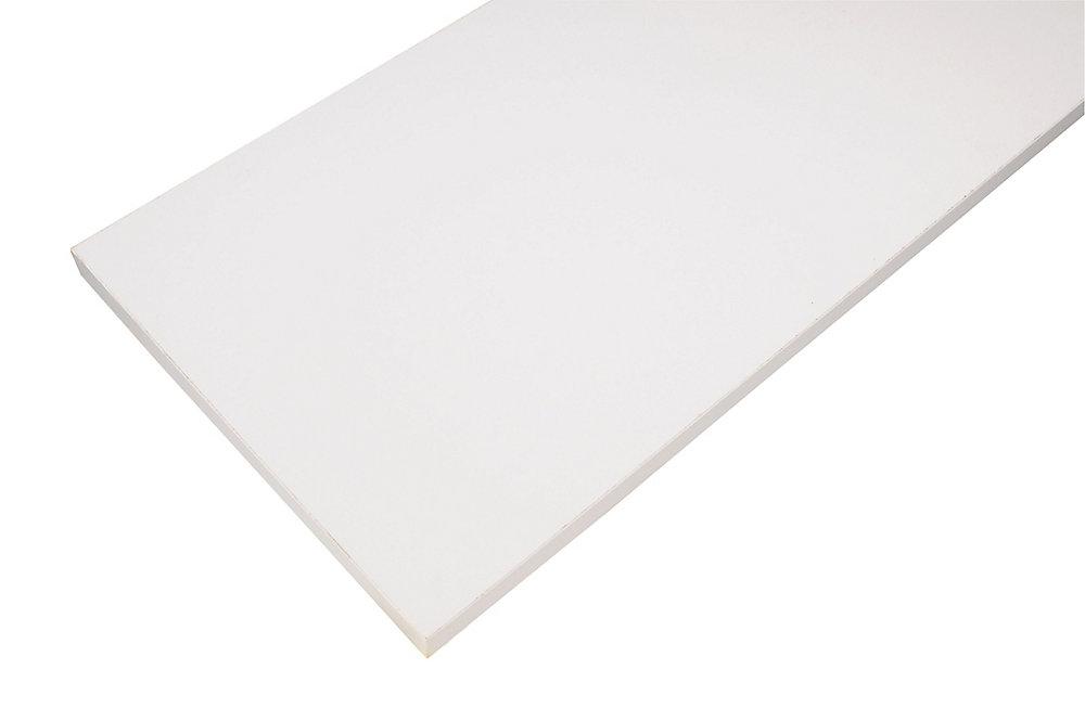 Essentials 12-inch x 72-inch Wood Shelf in White