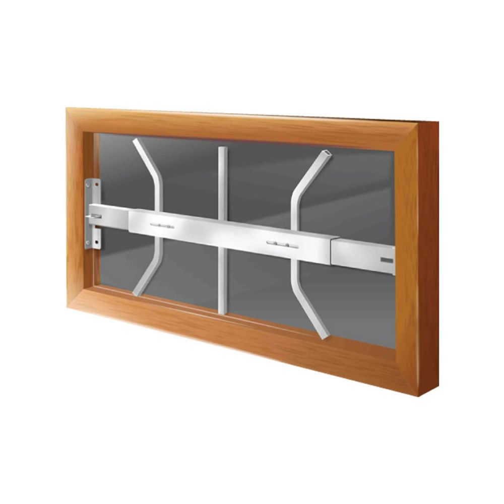 202 B Hinged Window Bar Fits windows 21-28 In. wide and 12-22 In. high