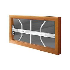 202 B 21-inch to 28-inch W Hinged Window Bar