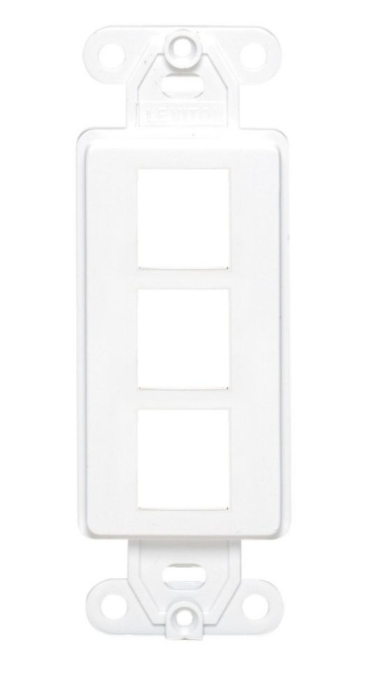 QuickPort Decora Insert, 3-Port, White