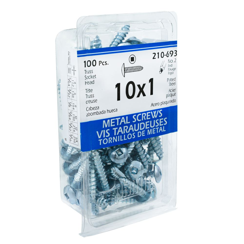 10x1 Vis Taraudeuses Truss Creuse