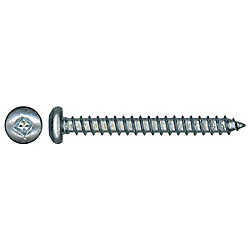 Paulin #4-22 x 3/8-inch Steel Pan Head Square Drive Tapping Screw - Type A - Zinc Plated