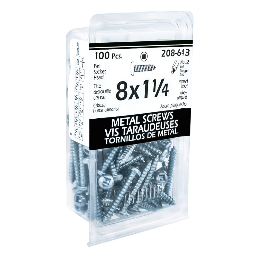8x1-1/4 Pan Hd Socket Tapping Screw