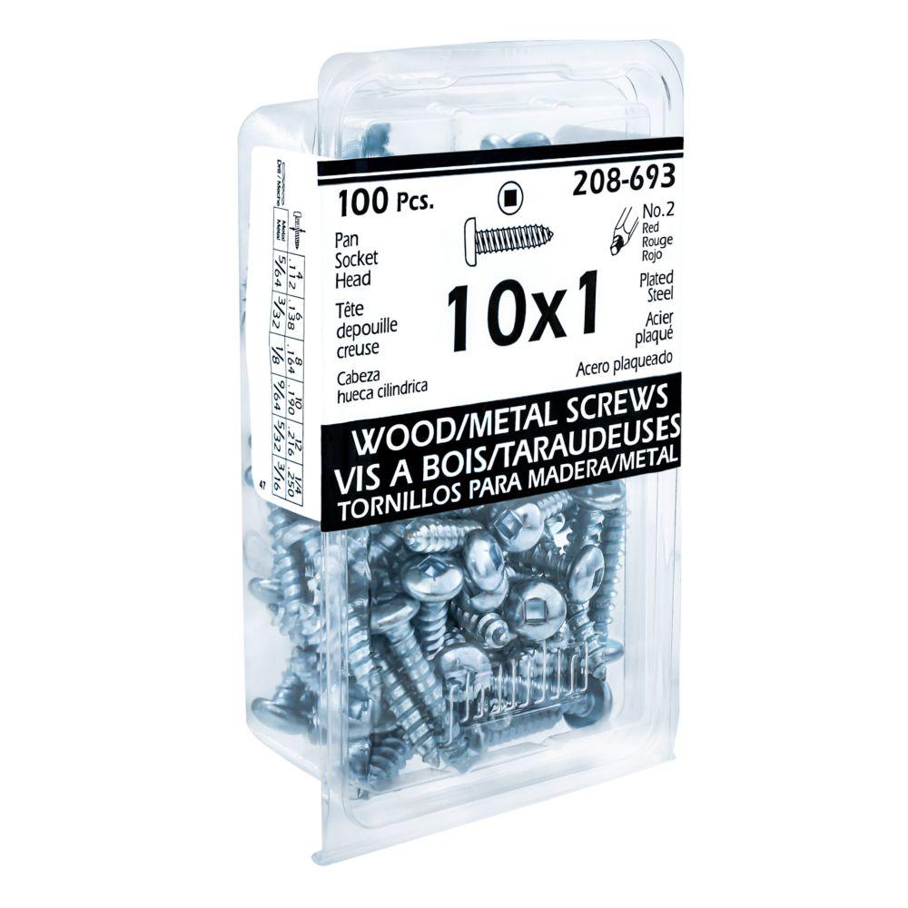 10x1 Vis Taraudeuses Depouille Creuse