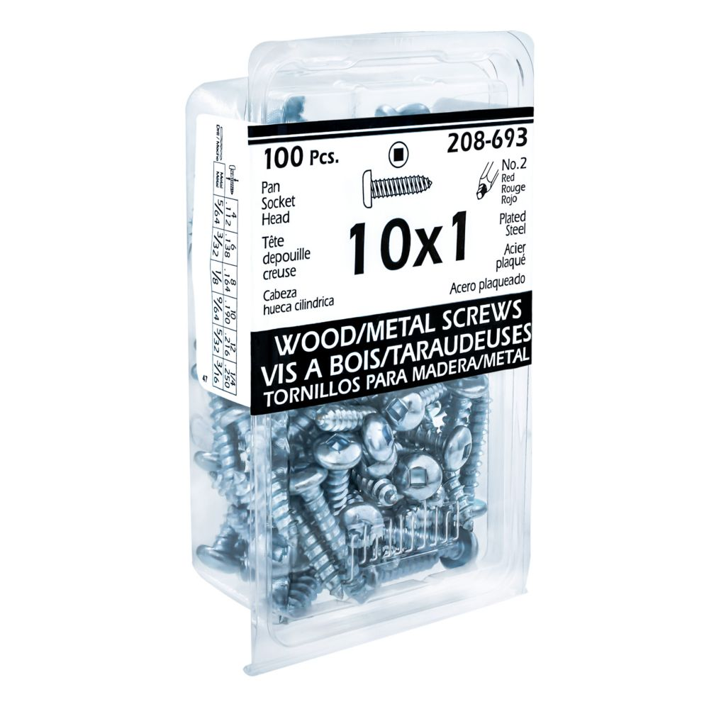 10x1 Pan Hd Socket Tapping Screw Plt