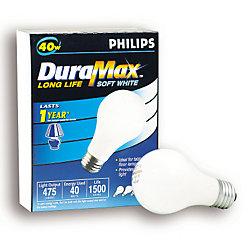 Duramax Lampe à incandescence, type A blanc doux, 40 W