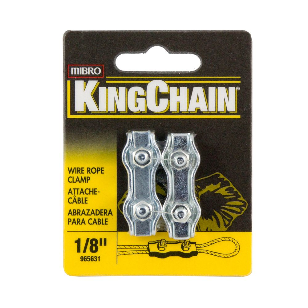 1/8 In Double Wire Rope Clamps 2/Cd