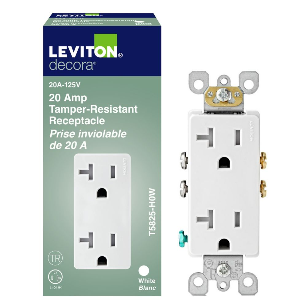 Decora Plus Duplex Recepticle, White