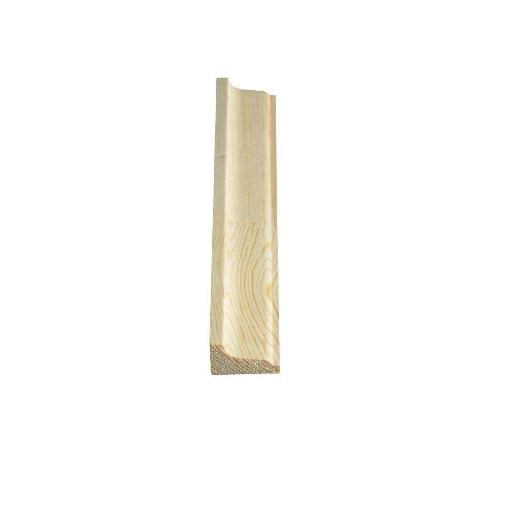 Alexandria Moulding Finger Jointed Pine Panel Moulding 9/16-inch x 1-1/8-inch x 8 Ft.