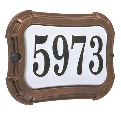 Vintage Series, Antique Copper Finish, Horizontal or Vertical Address Plate