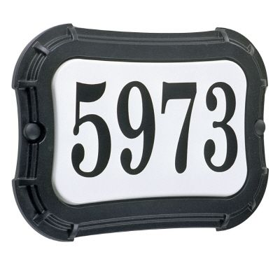 Vintage Series, Black Finish, Horizontal or Vertical Address Plate