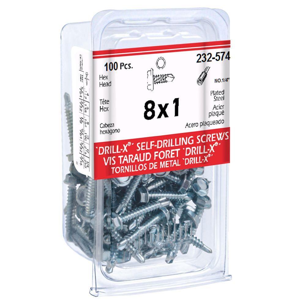 Papc 8X1 Drill-X Screw Hex Washer Hd