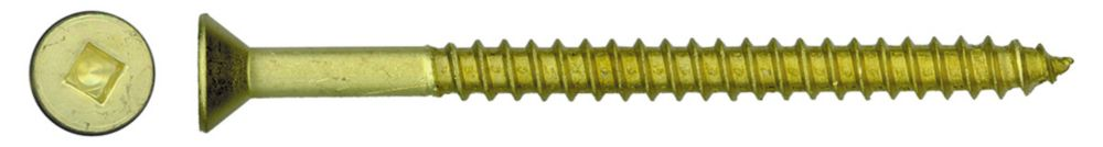8x2 Flat Hd Socket Brass Wood Screw