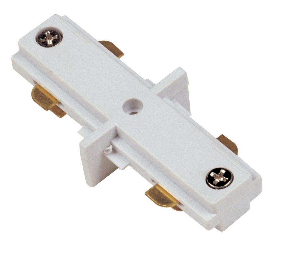 Mini-connecteur en ligne, fini blanc