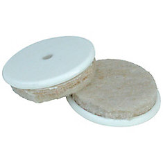 1 inch Heavy Duty Self-Adhesive Felt Furniture Pads with Nylon Insert, (8-Pack)