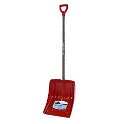 Nordic Garant 13.9- inch Snow Shovel  with Wood Handle and Poly Blade