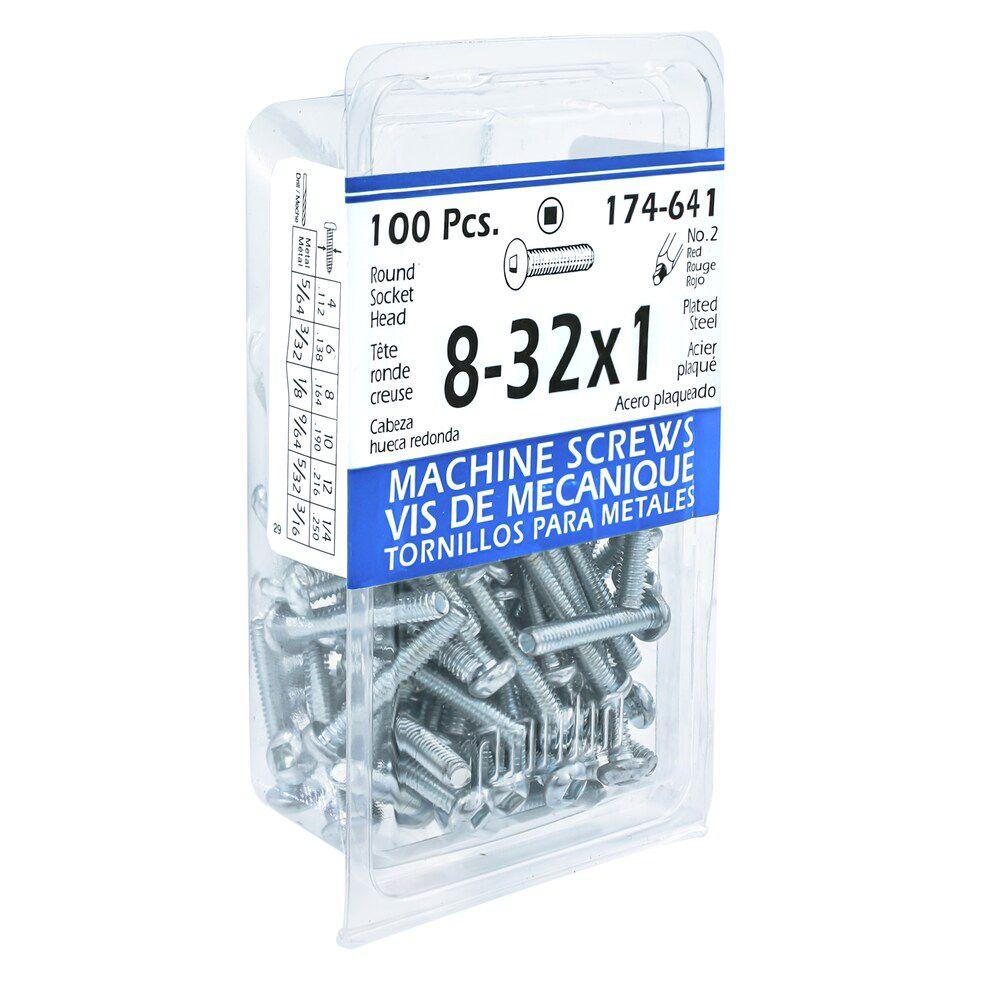 8-32x1 Rd Soc Machine Screw