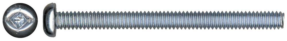 8-32x2-1/2 Rd Soc Machine Screw Pltd