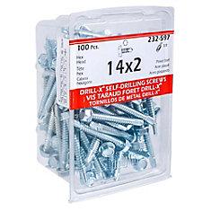 14X2 Drill-X Screw Hex Washer Hd