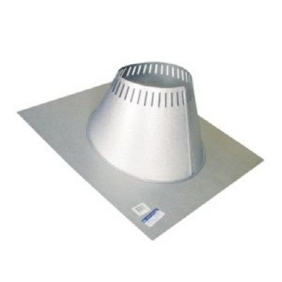 Max Chimney 6 Inch diameter Roof Flashing 0/12-6/12
