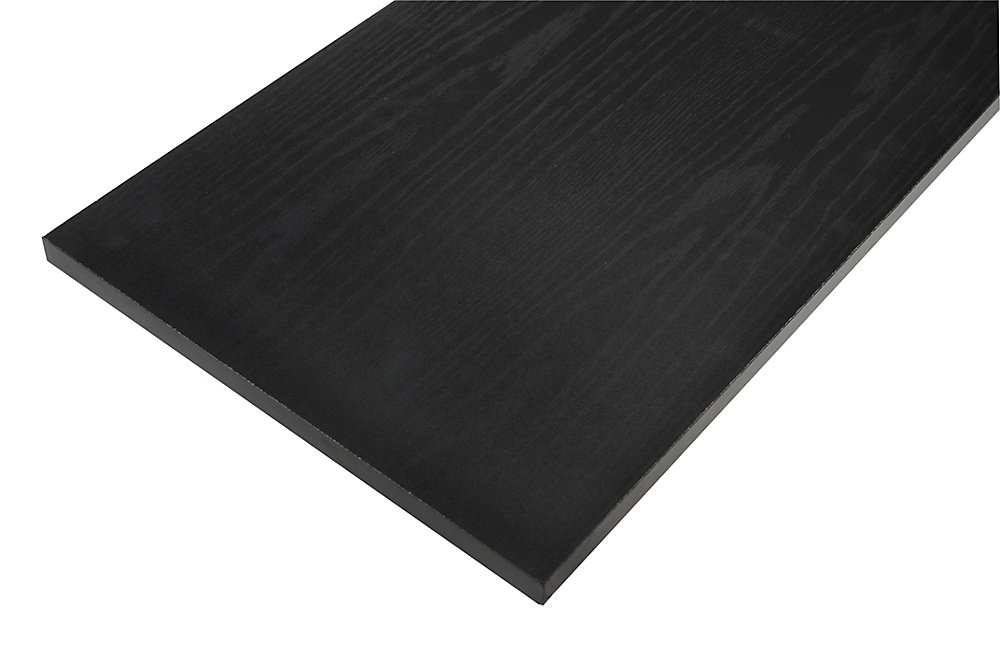 12 Inch X 36 Inch Black Essentials Shelf