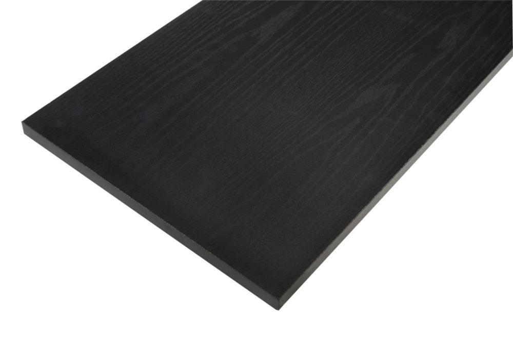 12 Inch X 48 Inch Black Essentials Shelf