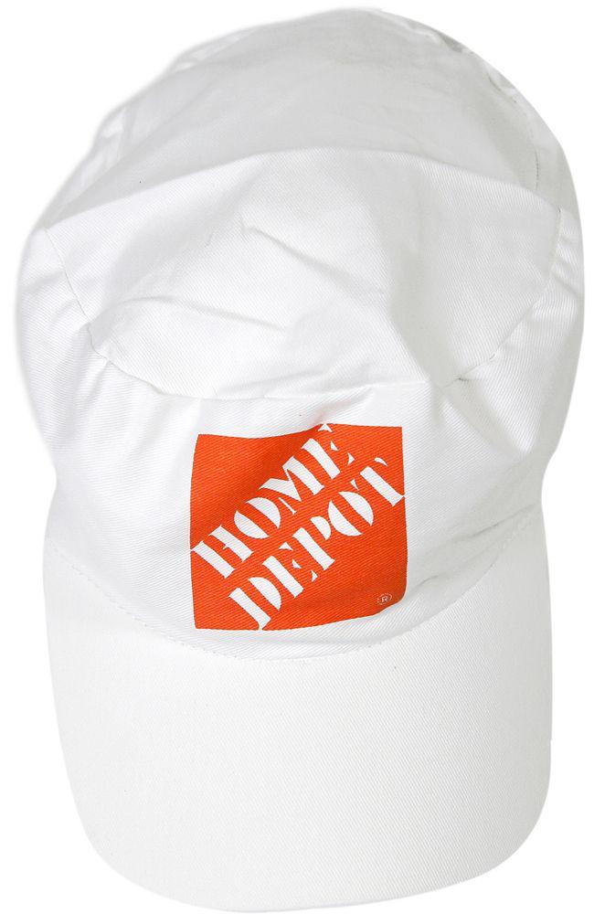 Painters Cap -White -W/Hd Orange (C)