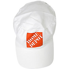 Painters Cap -White -W/Hd Orange (C)