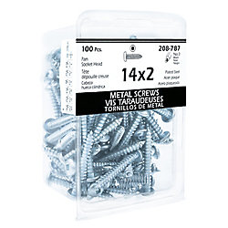 Paulin #14-10 x 2-inch Steel Pan Head Square Drive Tapping Screw - Type A - Zinc Plated