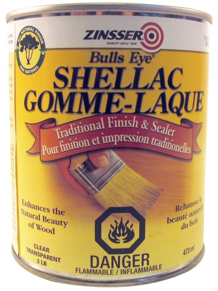 Gomme-laque Shellac orange 3lb, 473mL (16oz)