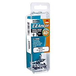 Paulin 6 Mini Ex Anchor C/W Screw Zinc 4PC