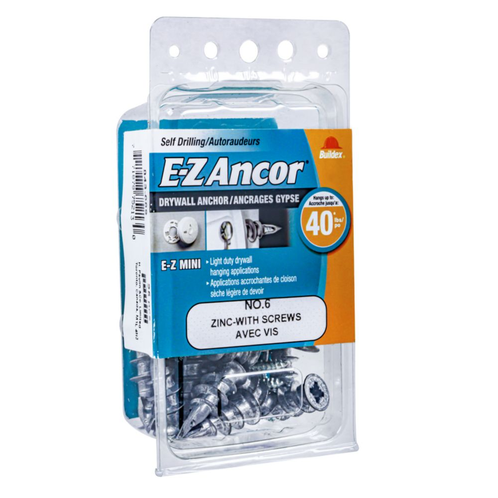 6 Mini Ex Anchor Zinc C/W Screw 25PC