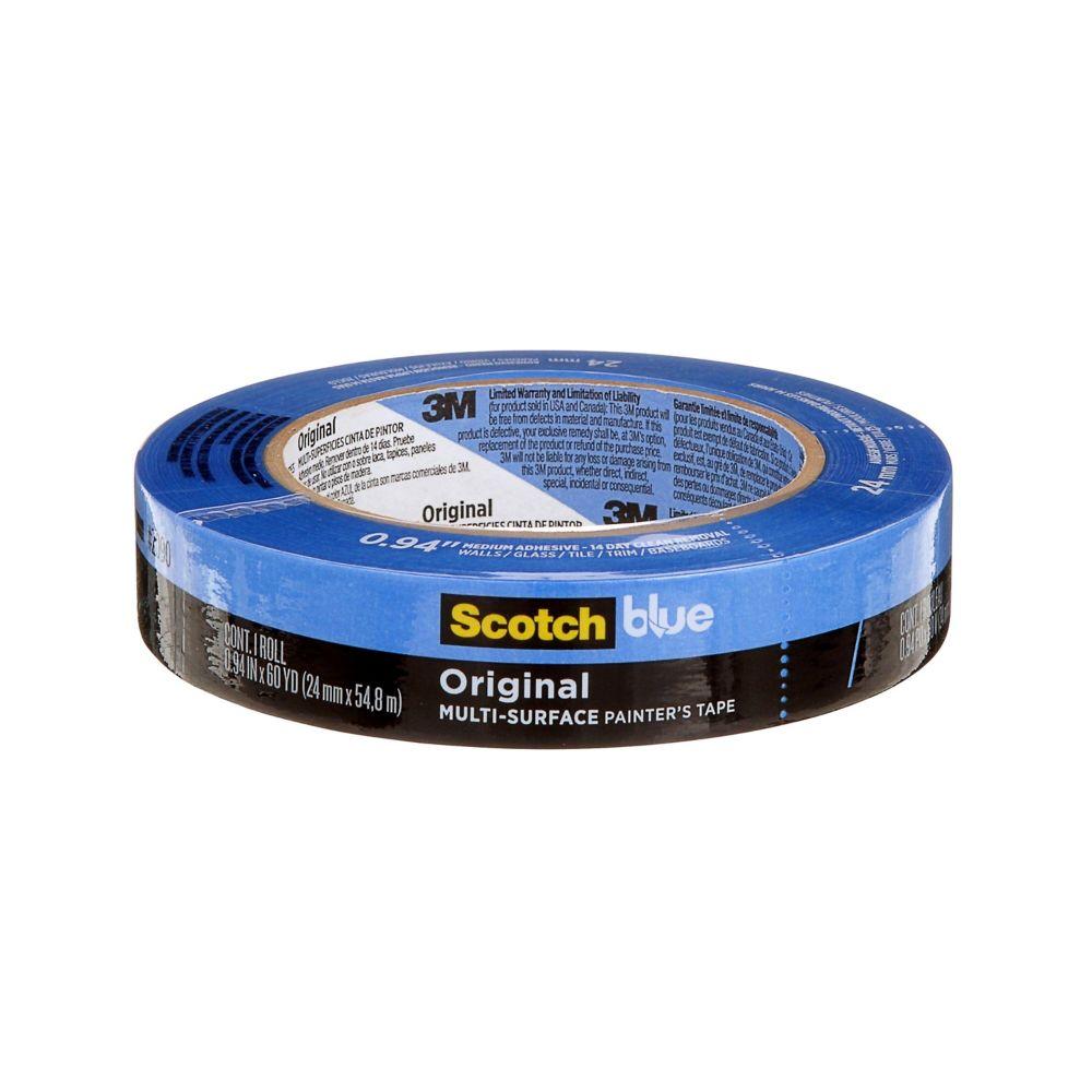 Scotch-Blue Painter's Tape for Multi Surfaces 25.4 mm x 54.8 m