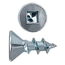 Paulin #8 x 1/2-inch Flat Head Square Drive Zinc Plated Steel Particle Board Screws - 100pcs