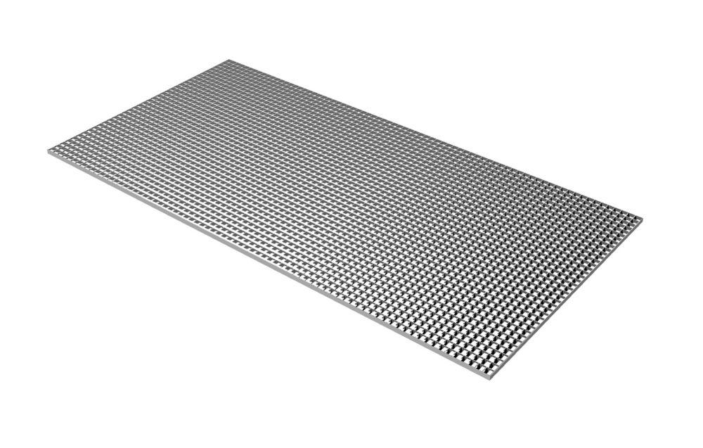 Grille argentée en panneaux alvéolés de 60 cm x 121 cm (23,75 po x 47,75 po)