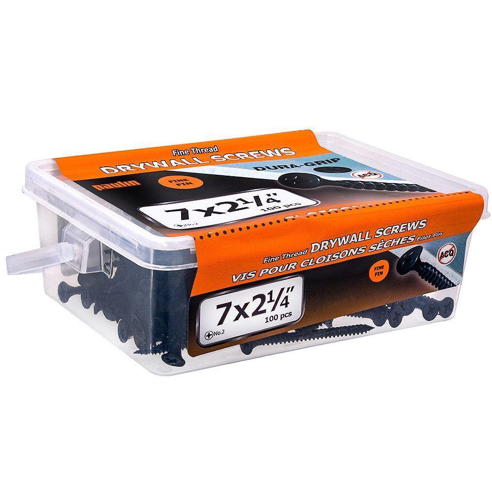 7x2-1/4 Fine Drywall Screws 100Pc