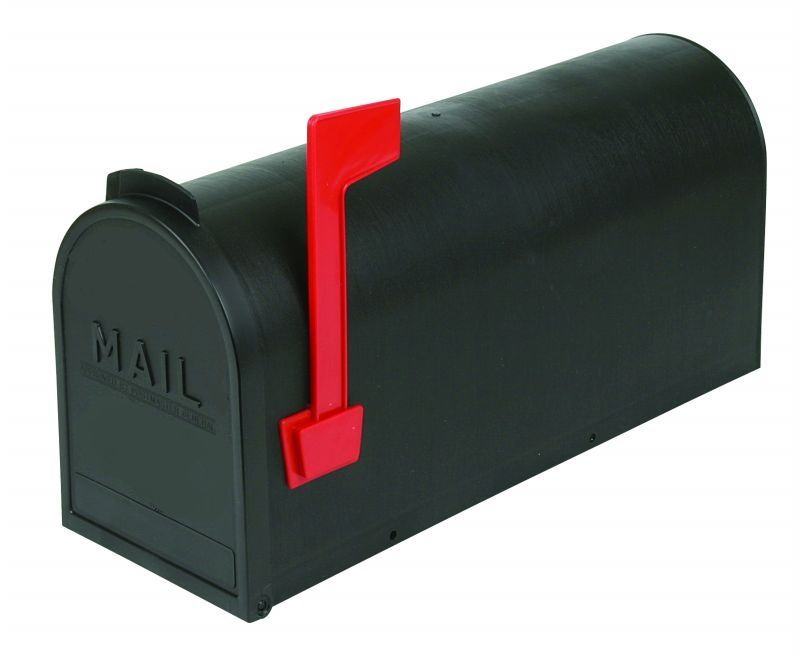 Rural Mailbox - Black Plastic