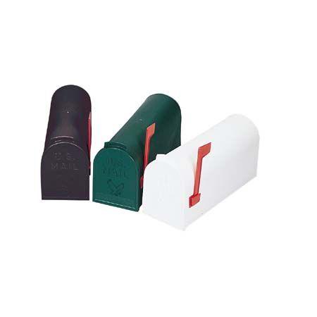 Rural Mailbox - White Plastic