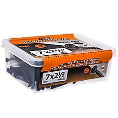 #7 x 2-1/2 po à tête plate Phillips Drive à filetage fin Vis pour cloison sèche à tête plate - 100 pièces