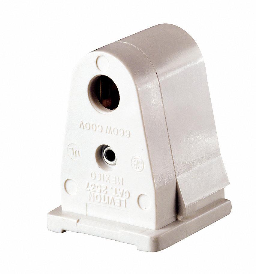 Slimline Fluorescent Lamp holder W/Fixed End