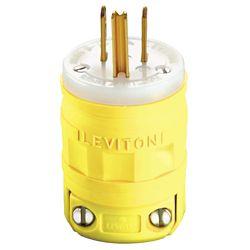 Leviton 15 Amp Dustguard Plug Nema 5-15p