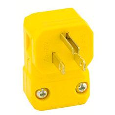 15 Amp Python Angle Plug, Yellow