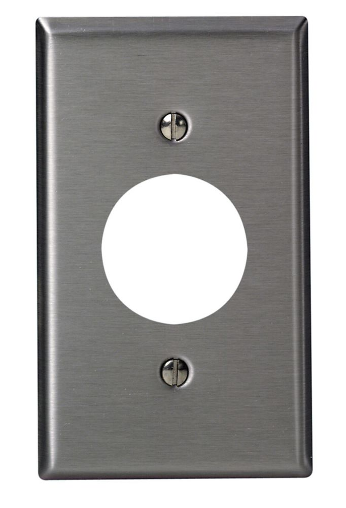 1-Gang Stainless Steel Plate For 15 Amp Lock Device